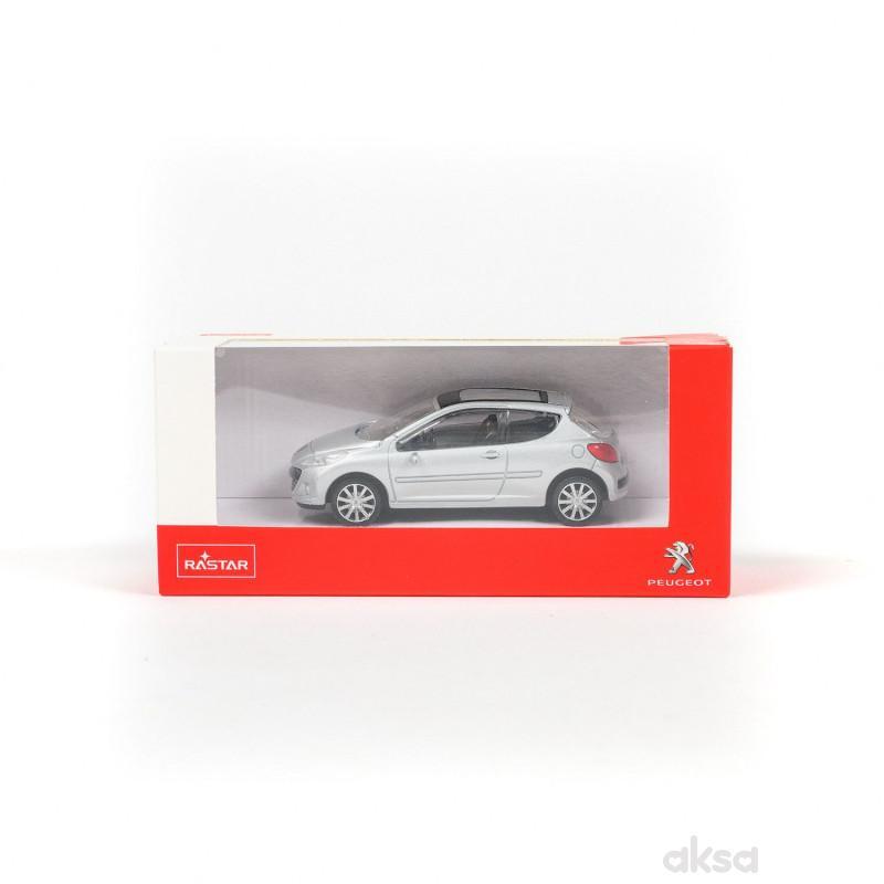 Rastar automobil Peugeot 207 1:43 (41800) - siv