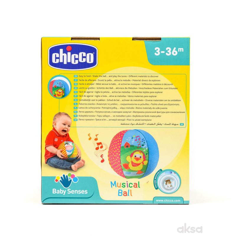 Chicco igračka plišana muzička lopta