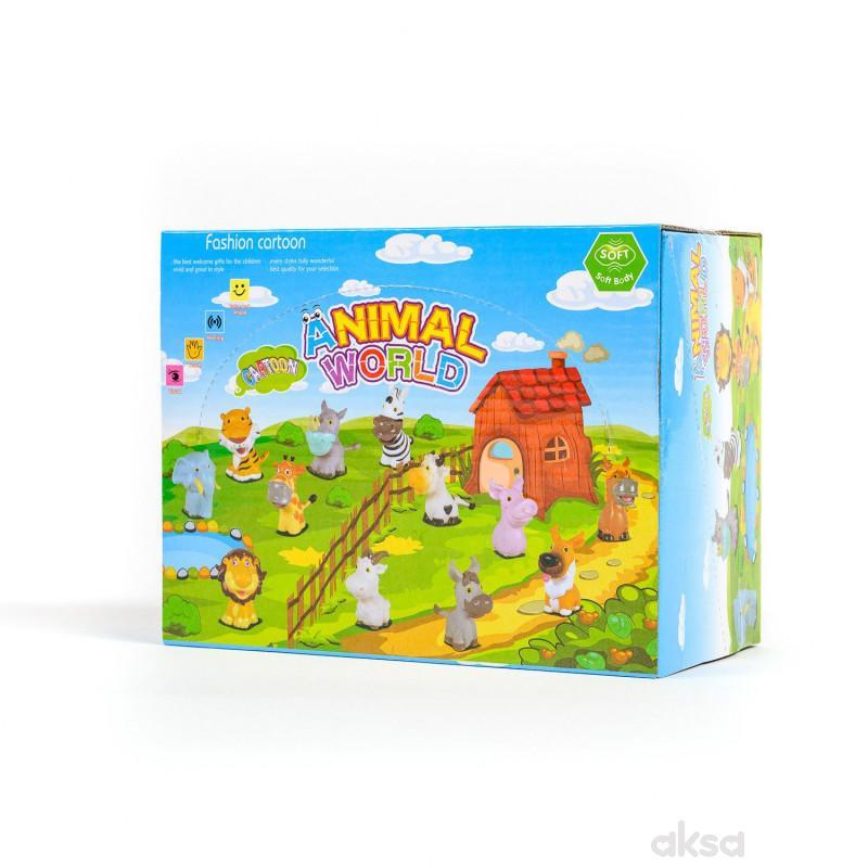 Hk Mini igračka gume d životinje u displeju 6 kom