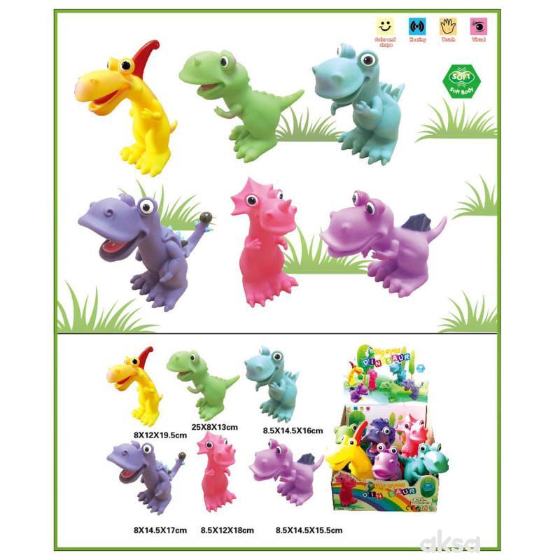 Hk Mini igračka gumeni dinosaursi u displeju, 6kom