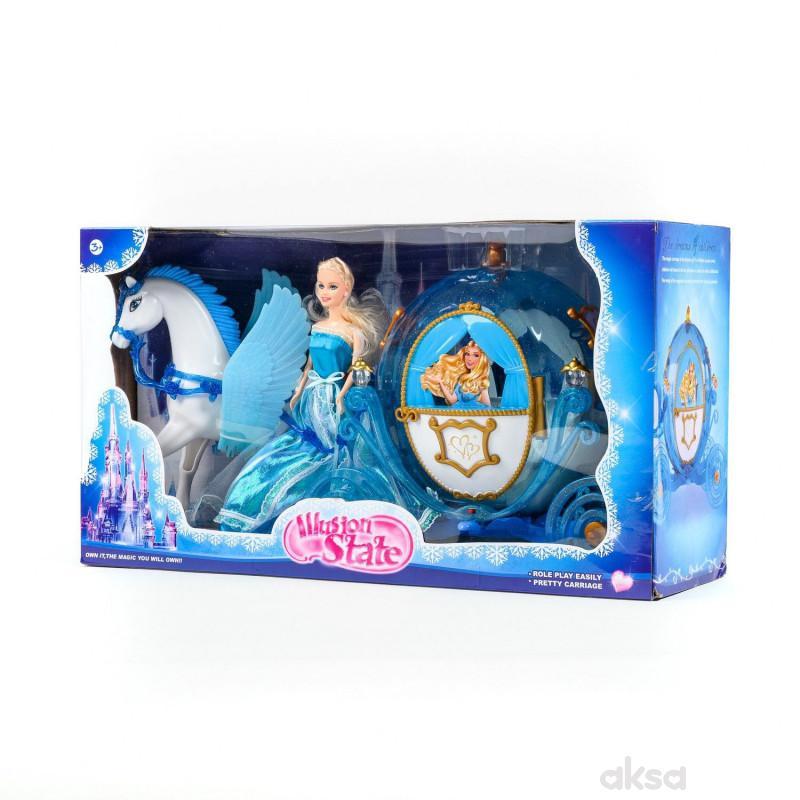 Hk Mini igračka konjić sa kočijom
