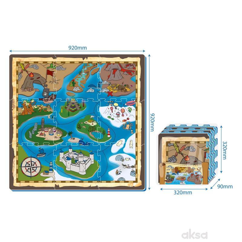 Podne puzzle - Mapa ostrvo