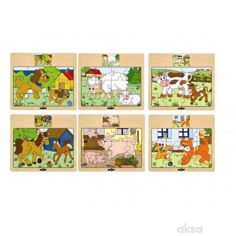 Puzzle 6 motiva, pakovanje od 12 komada