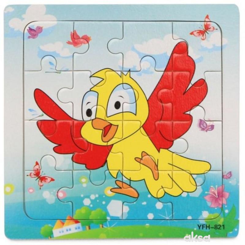Hk Mini igračka drvena slagalica, ptičica, 15x15