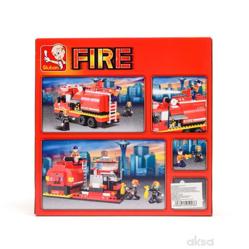 Sluban kocke, vatrogasni kamion, 281 kom
