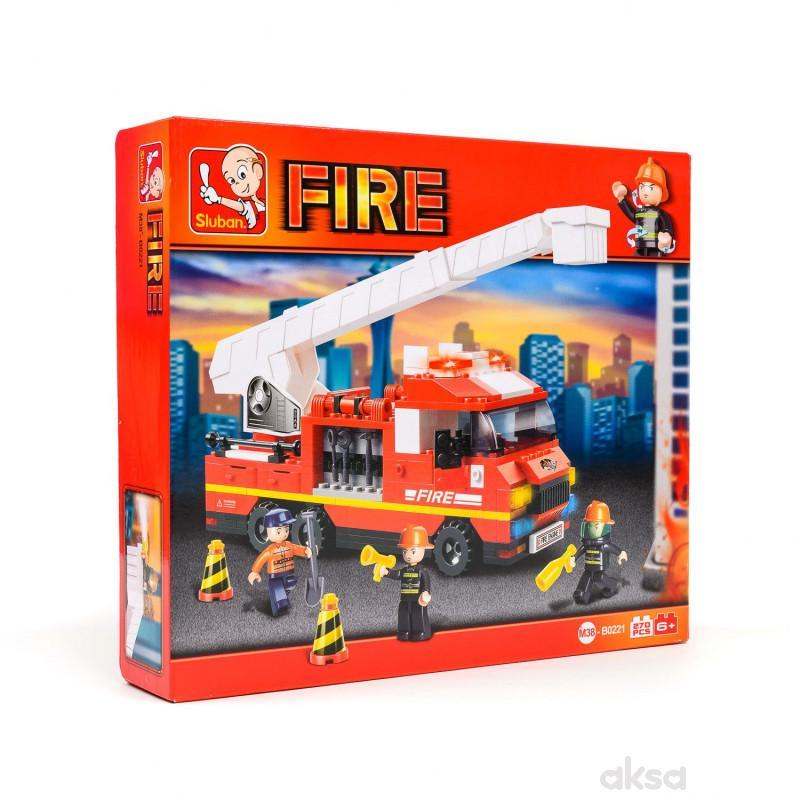 Sluban kocke, vatrogasni kamion sa merd,270 kom