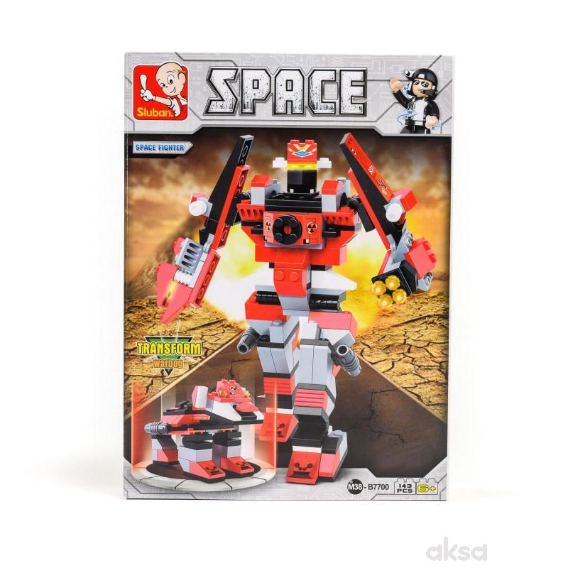 Sluban kocke, robot, svemirski borac, 143 kom