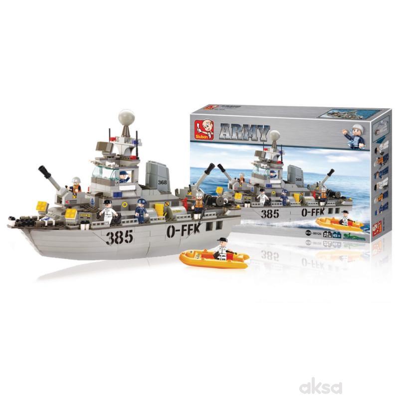 Sluban kocke, vojni brod, 461 kom