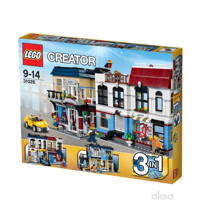 Lego creator bike shop and cafe
