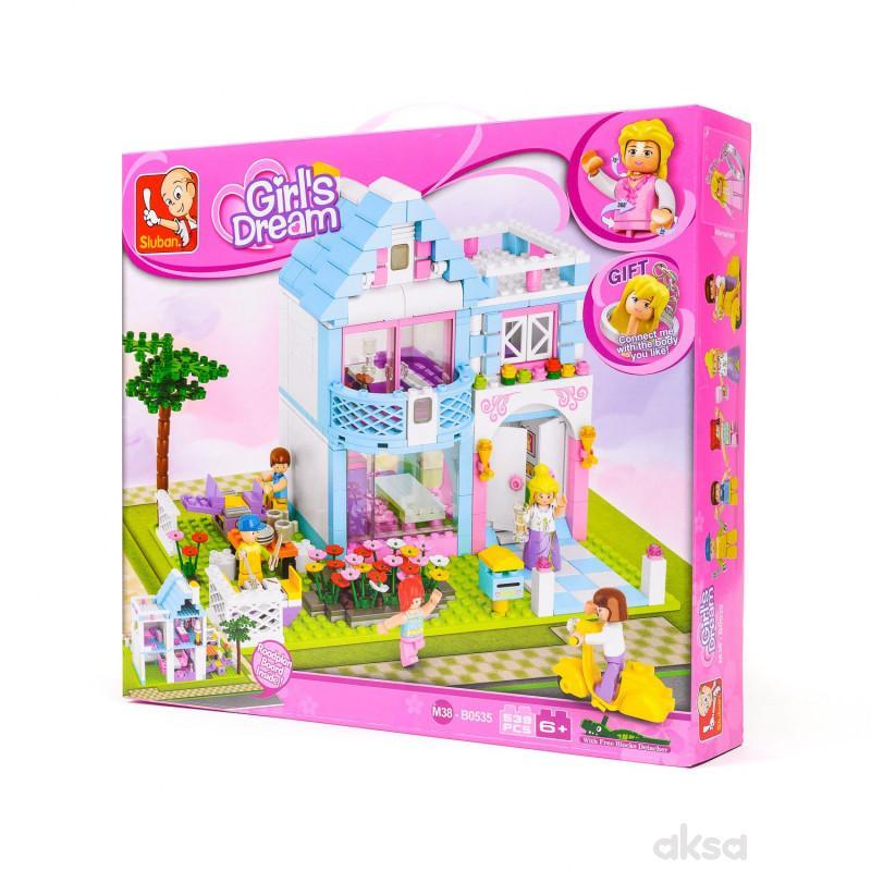 Sluban kocke, kuća sa baštom, 547 kom