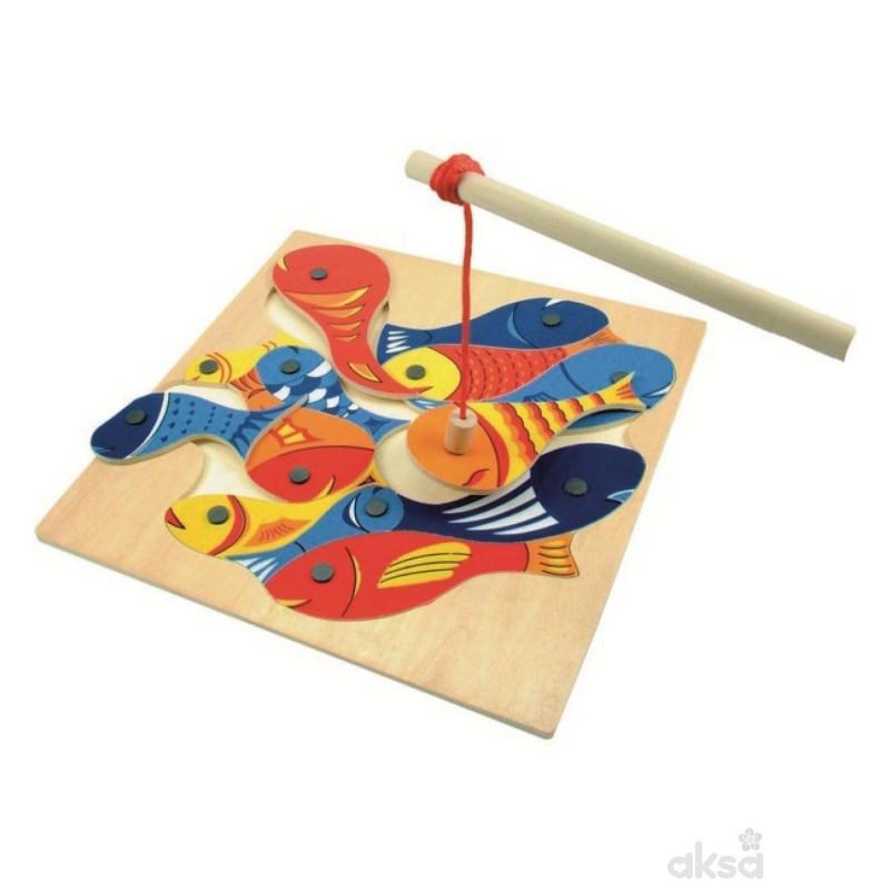 Drvena riba magnet pecanje