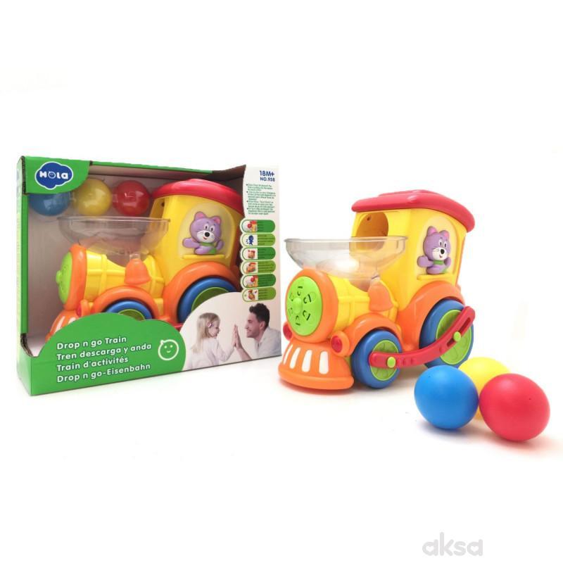 Huile toys, igračka vozić sa lopticama