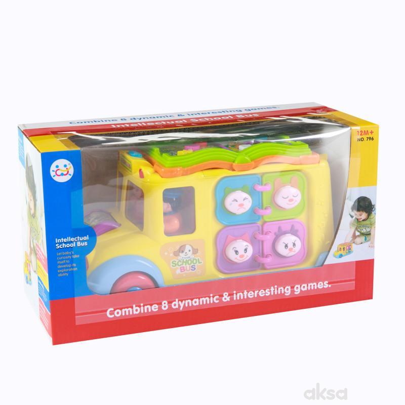 Huile toys, igračka interaktivni školski autobus