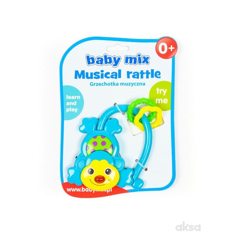 Baby Mix zvečka muzička majmun-plava