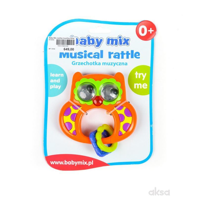 Baby Mix muzička zvečka Sova