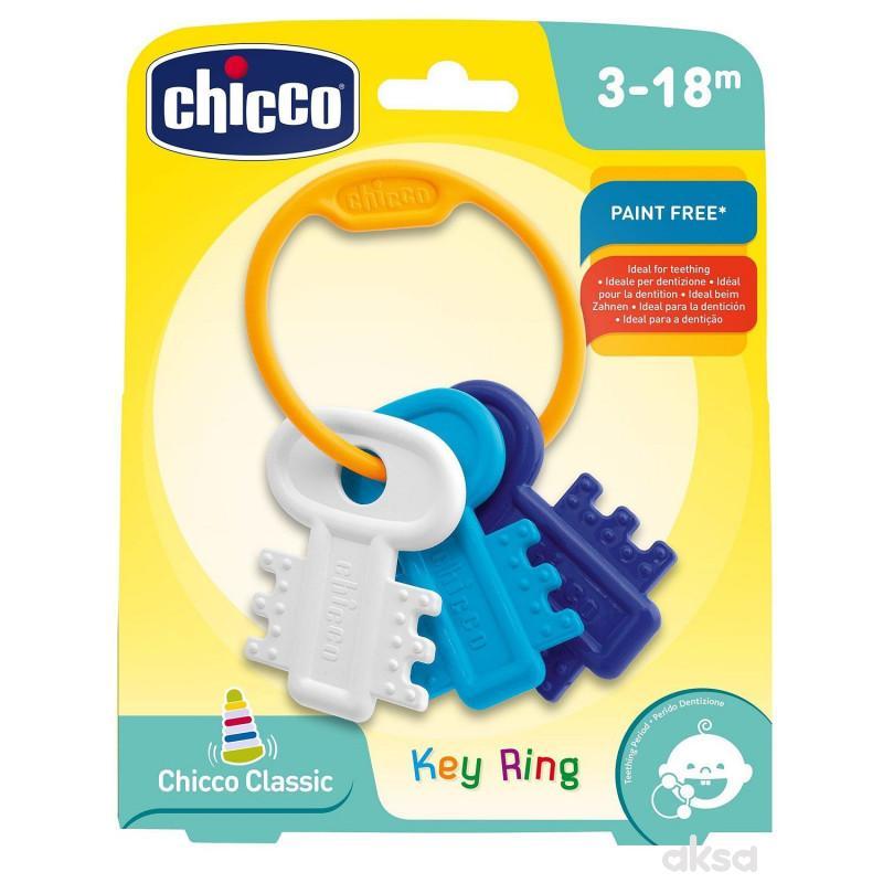 Chicco zvečka glodalica Privezak za ključeve plavi
