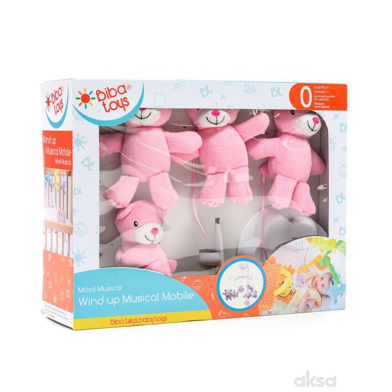 Biba Toys muzička vrteška veseli medvedići