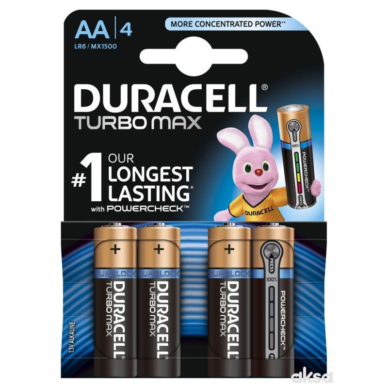 Duracell Turbo AA 4kom