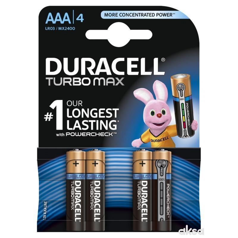 Duracell Turbo AAA 4kom