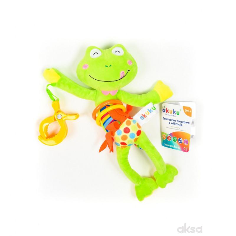 Akuku viseća vibrirajuća igračka žaba