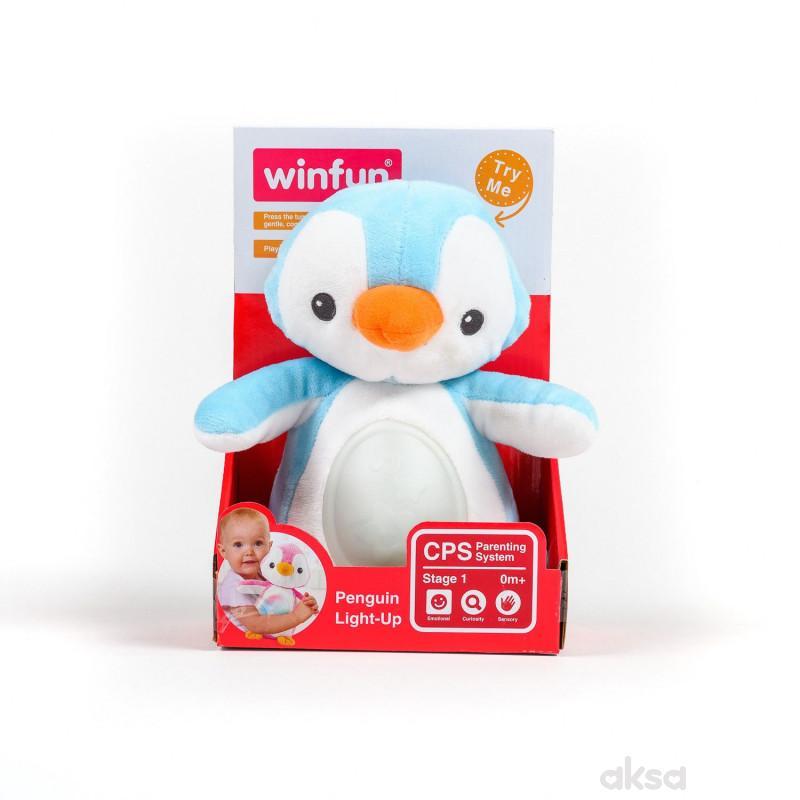 Win Fun igračka Svetleći pingvin plava