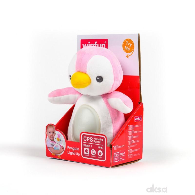 Win Fun igračka Svetleći pingvin roze