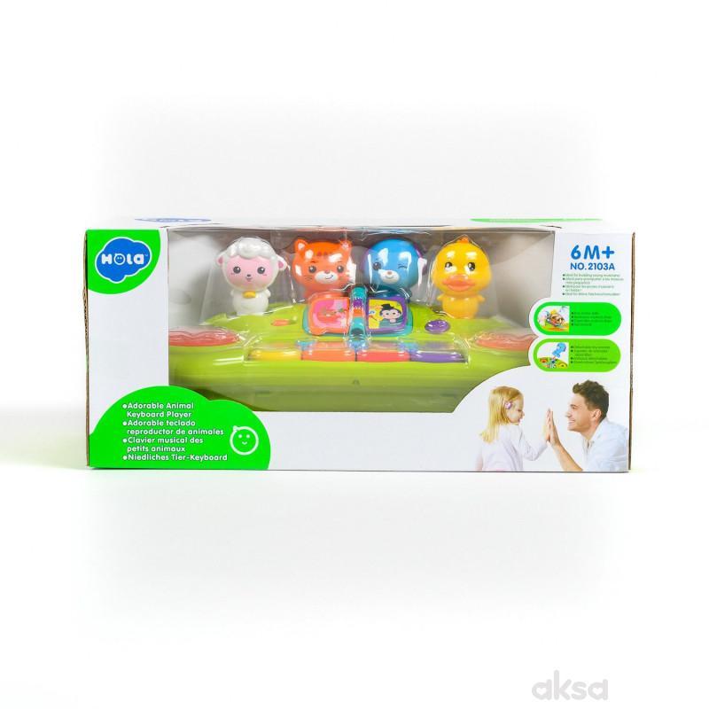 Huile toys igračka klavijatura sa životinjama