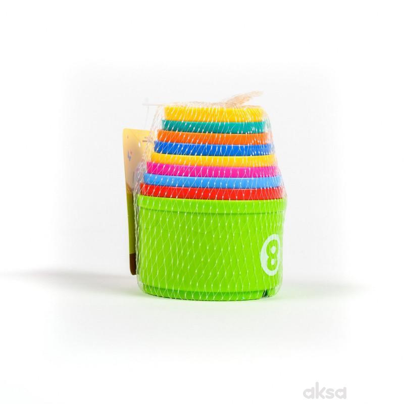 HK Mini igračka, kupice za slaganje u mrežici