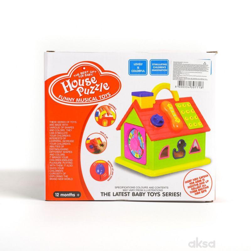 HK Mini igračka, muzička kućica umetaljka