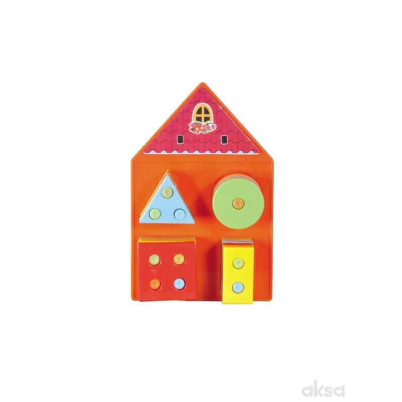 Set za bebe geometrija - kucica