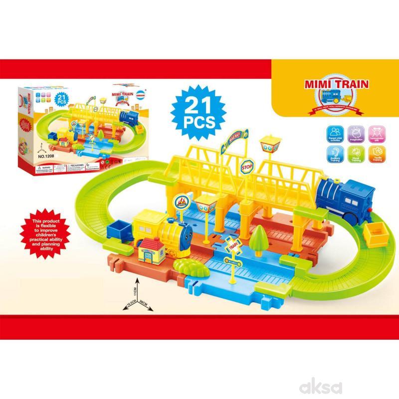 HK Mini igračka, vozni park - sa mostićem