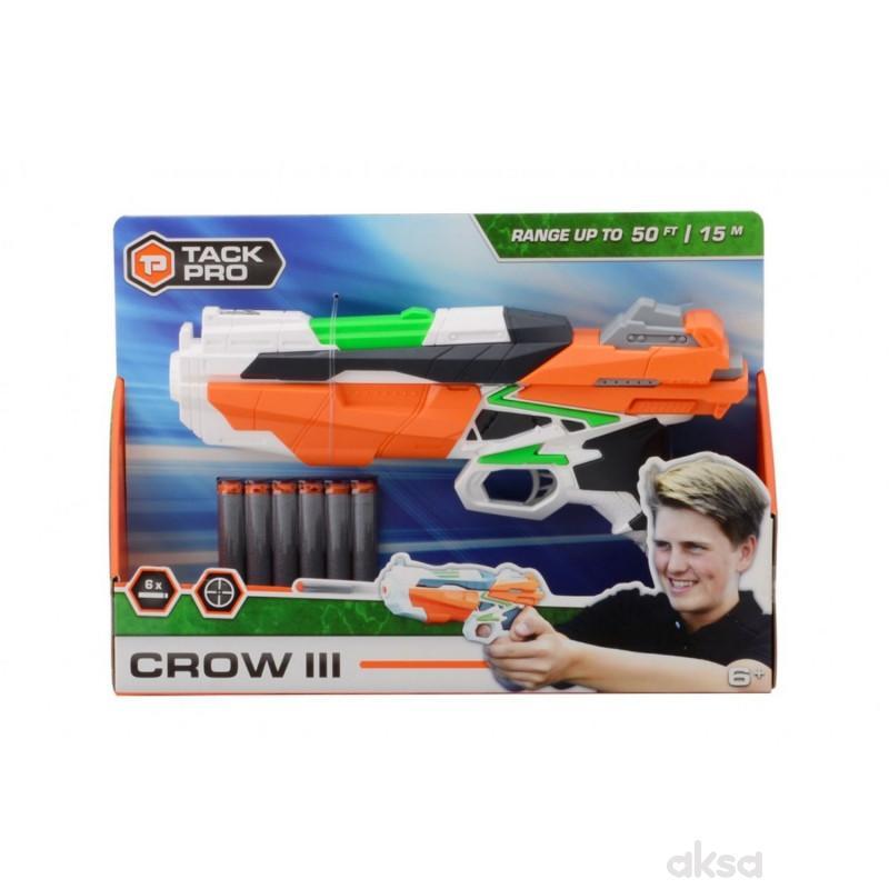 Tack Pro Shooter Pistolj 29cm sa svetlom 6 metaka