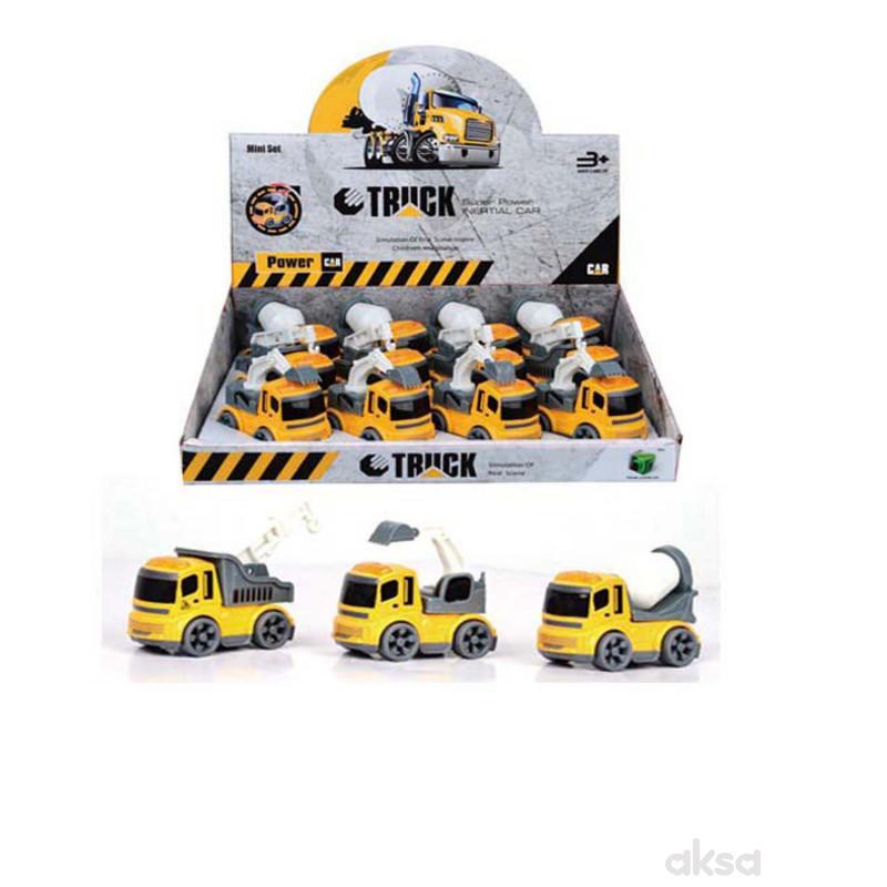 HK Mini građevinsko vozilo, die-cast (tp 12)