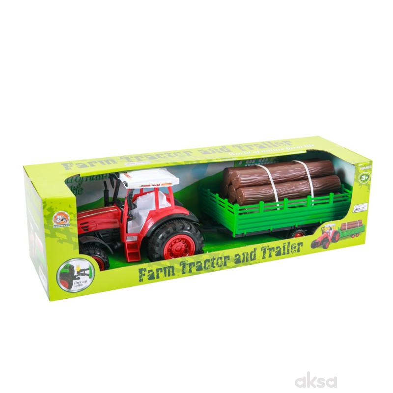 HK Mini igračka traktor sa balvanima