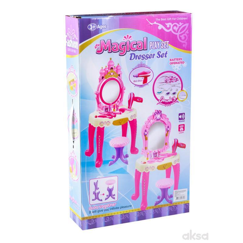 HK Mini igračka, sto za ulepšavanje, roze