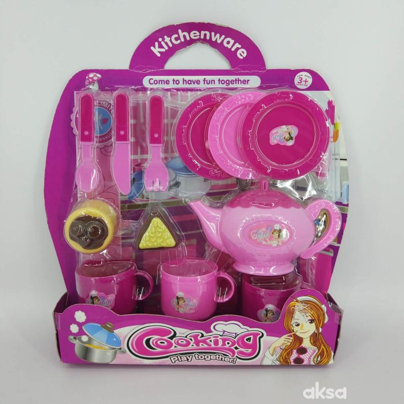 Hk Mini, igračka set za čajanku plastični