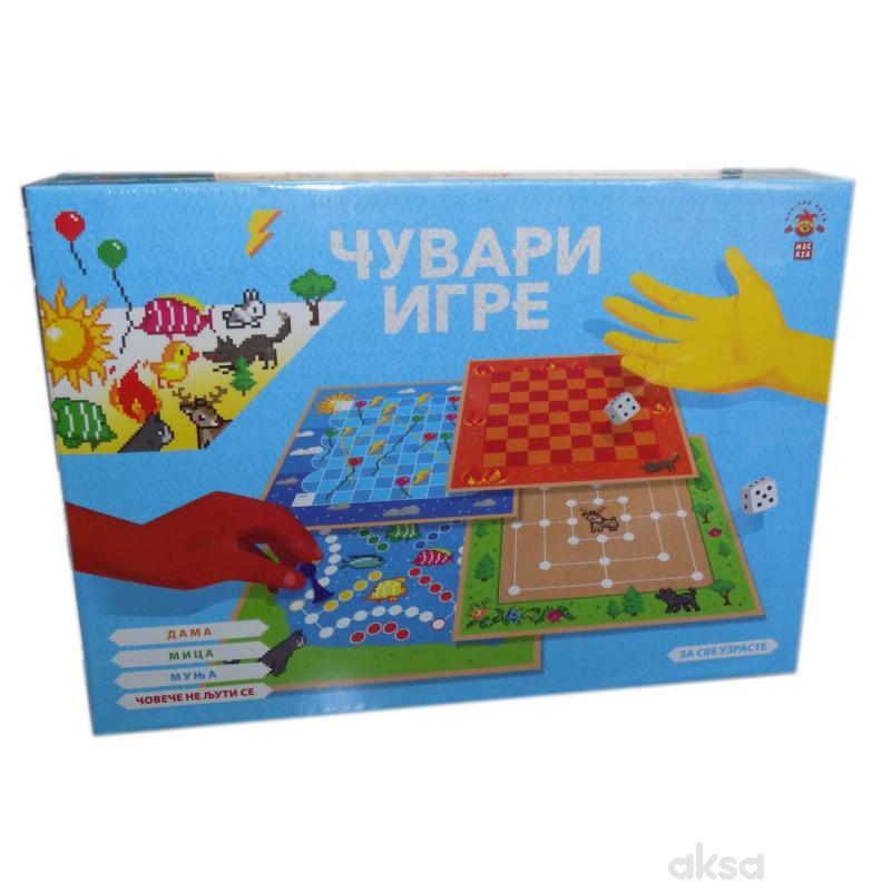 Drustvena igra CUVARI IGRE set 4 igre