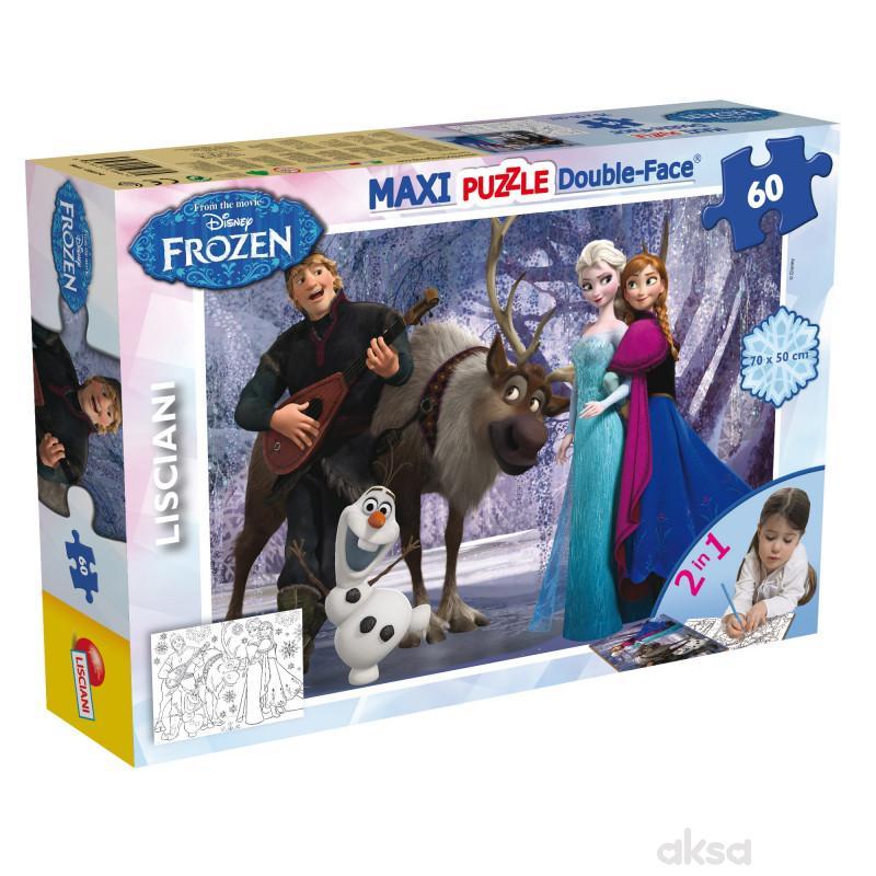 Lisciani Slagalica Maxi Frozen 2u1 složi i 60pcs