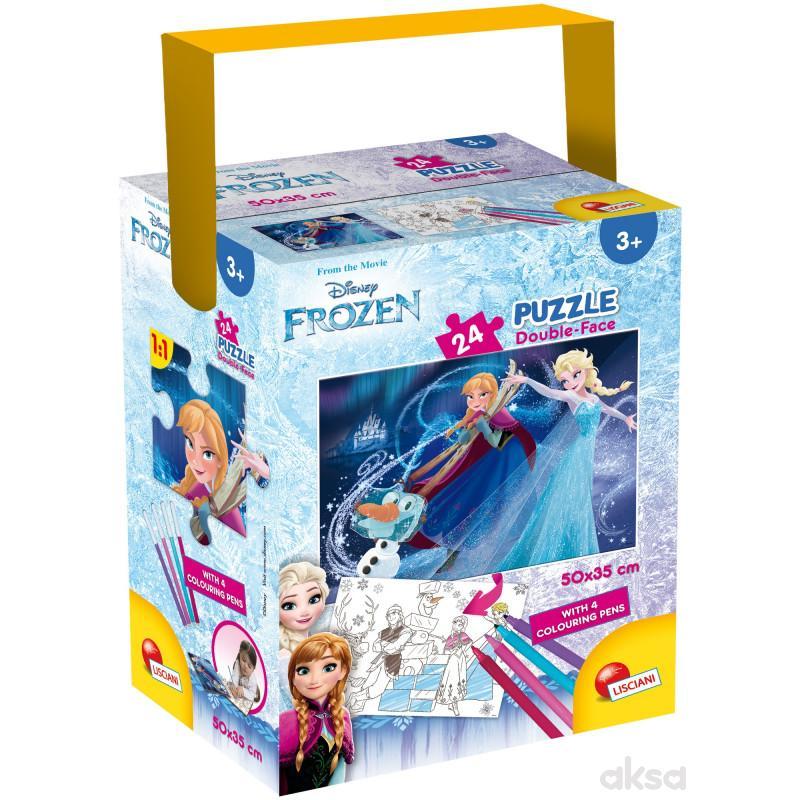Slagalica Lisciani 24pcs + 4 flom Frozen2u1