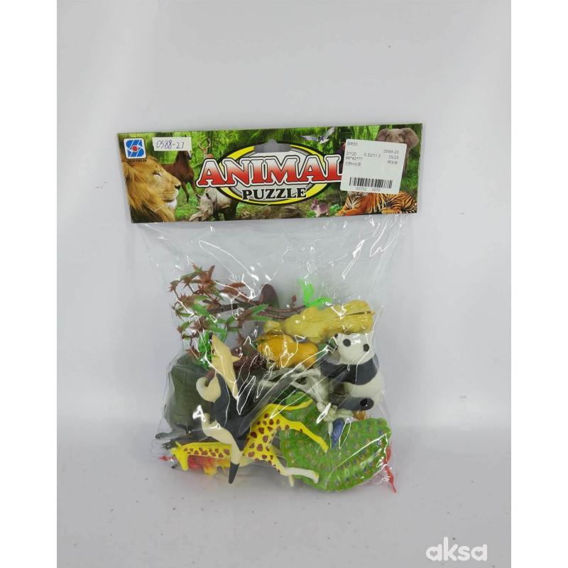 HK Mini igračka divlje životinje u kesici