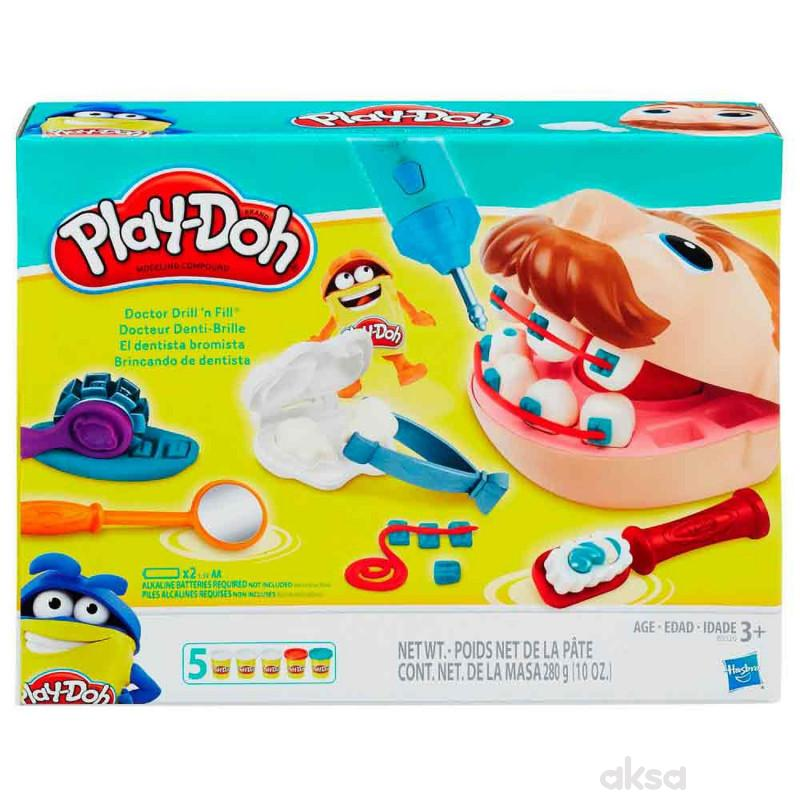 Play-doh plastelin set zubar
