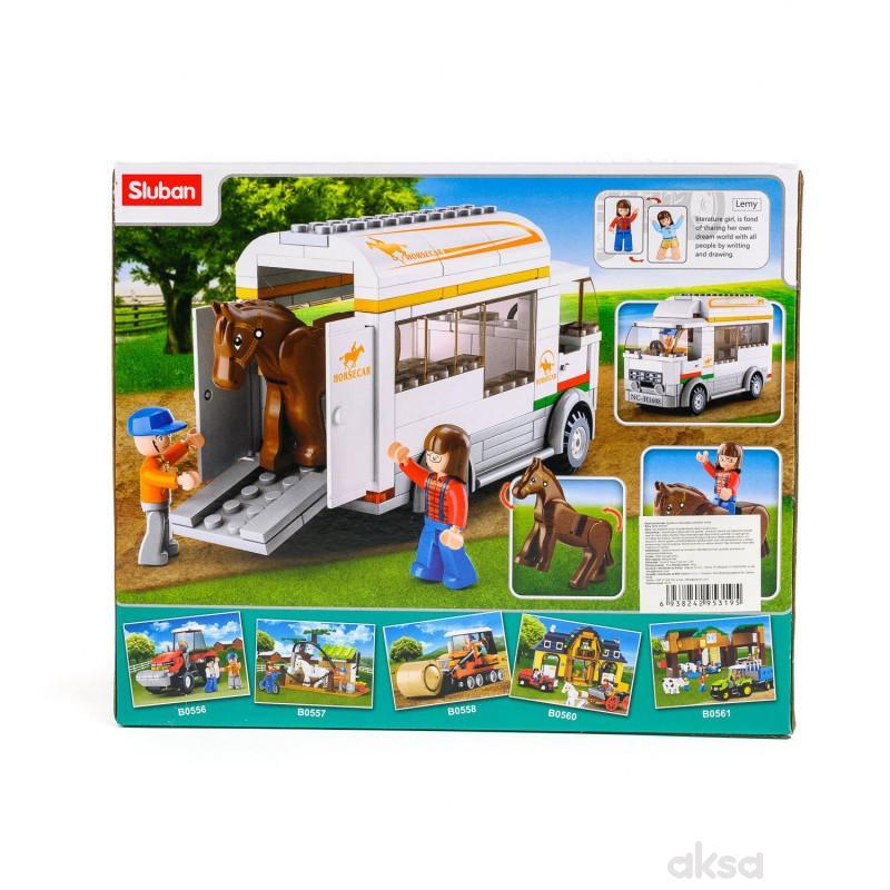 Sluban kocke, farmerski kamion sa konjićem