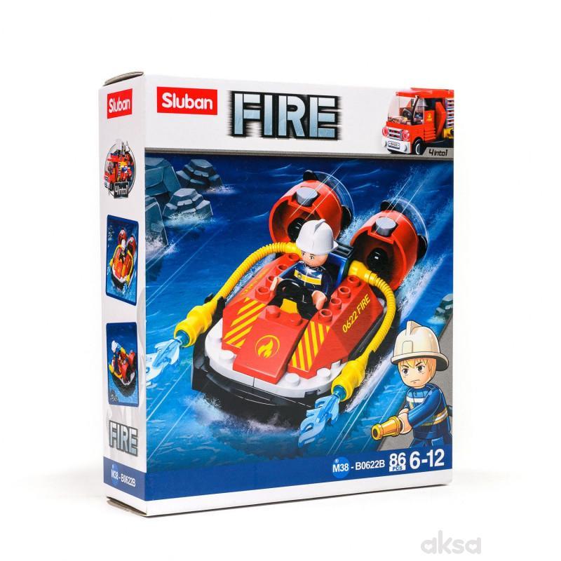 Sluban kocke, vatrogasni čamac, 86 kom