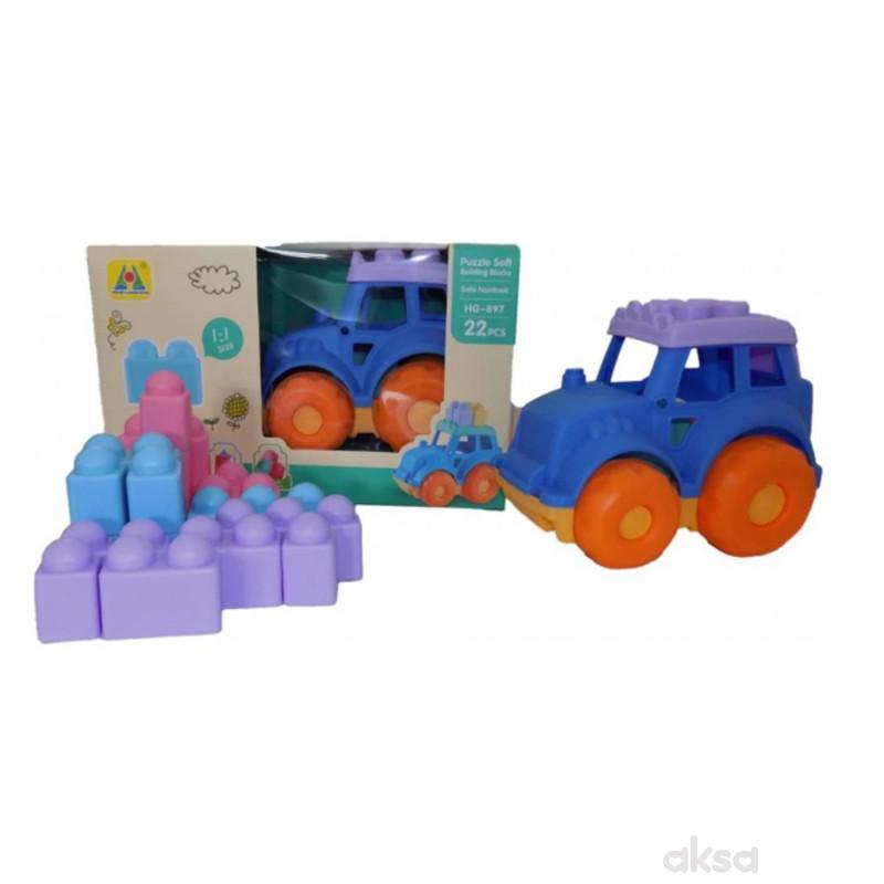 Baby Mekani Traktor I Kocke 22 Dela