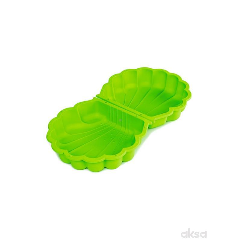 Peskarnik dupli skoljka zeleni 87x78x20 cm