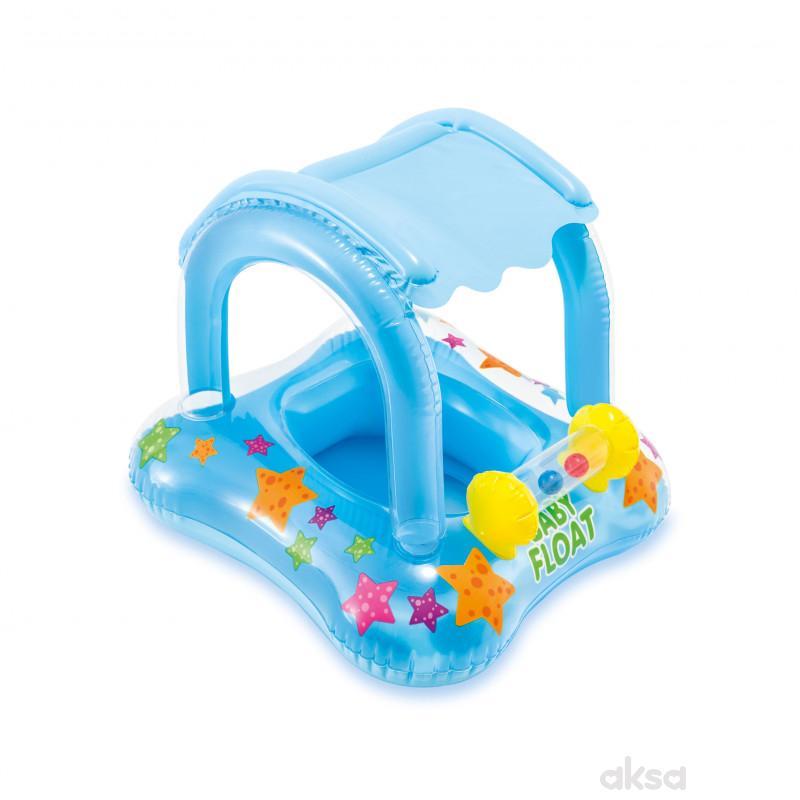 Intex baby dubak sa zaštitom od sunca i igračkom