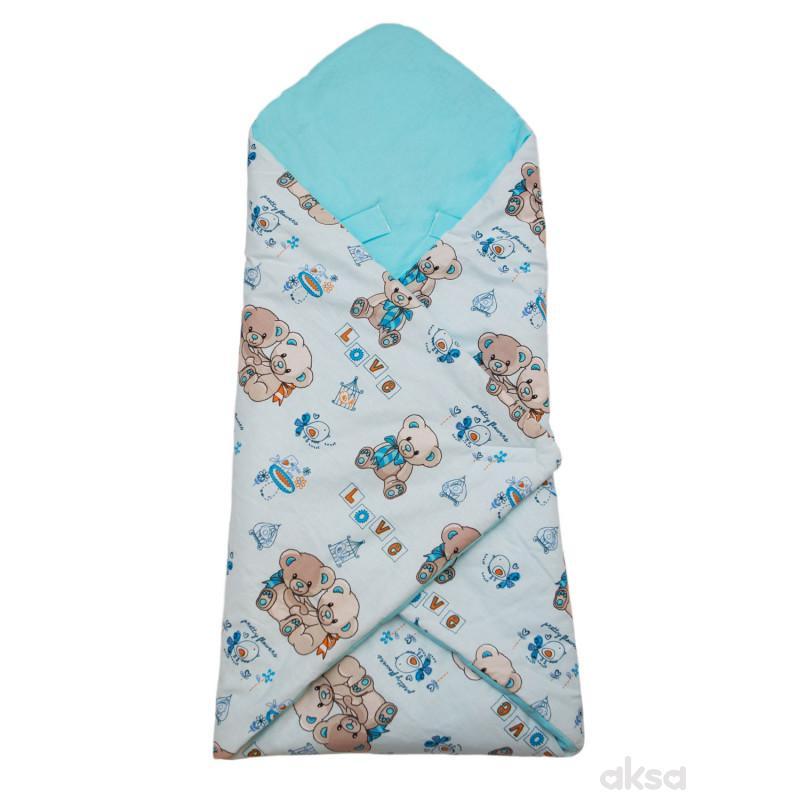 Be Eco 3u1 prekrivač,78x78CM,plava