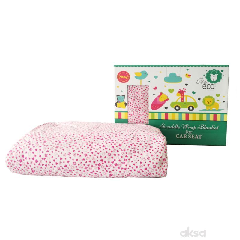 Be Eco 3u1 prekrivač,78x78CM,roze