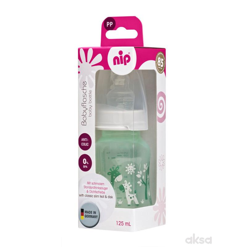 Nip PP flašica Trendy Unisex 125 ml sil.cucla 0-6m