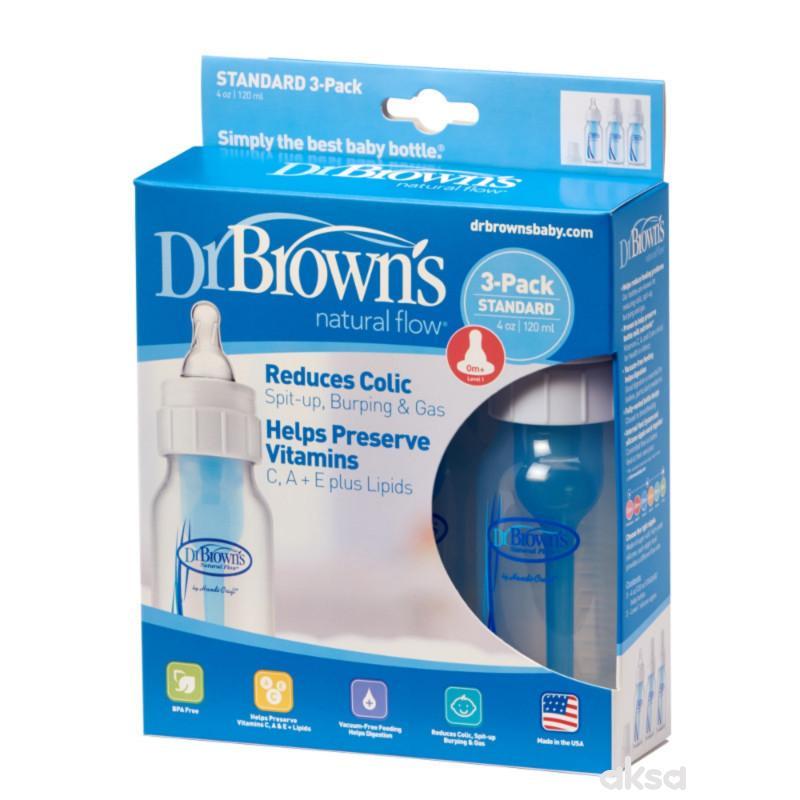 Dr.Browns plastična flašica standard 120ml, 3kom